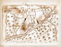Чертеж Святогорского монастыря,сделанный арх. Иоилем в 1679 г.